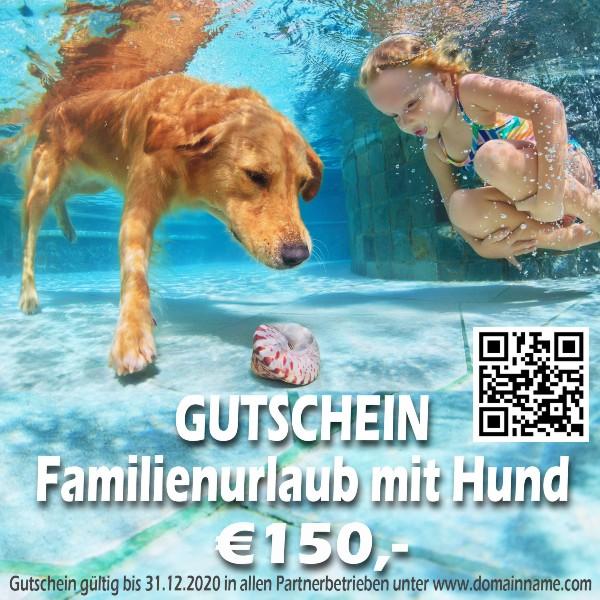Gutschein Familienurlaub mit Hund