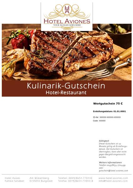 gutschein software hellmedia - kulinarik