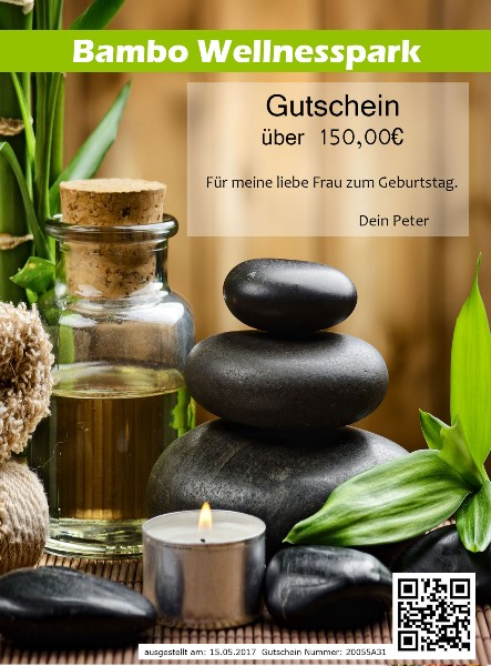 Wellness Gutschein